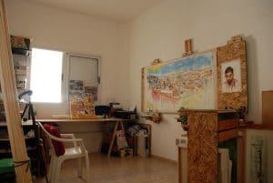 Atelier Maxime Bally, peintures toile acrylique.