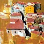 Estudo Lisboa, pintura acrílica tela, Maxime Bally
